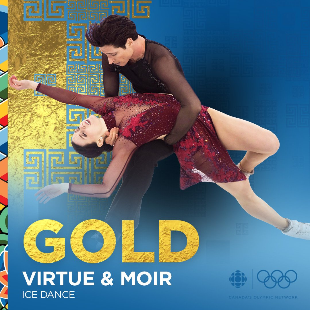 'The greatest thing you'll ever learn is just to love and be loved in return.'  #VirtueMoir GOLDEN at #PyeongChang2018