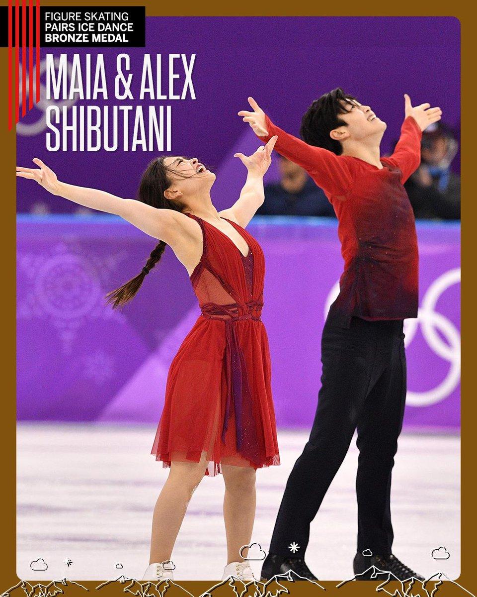 American siblings Maia and Alex Shibutani take home the bronze in ice dance!