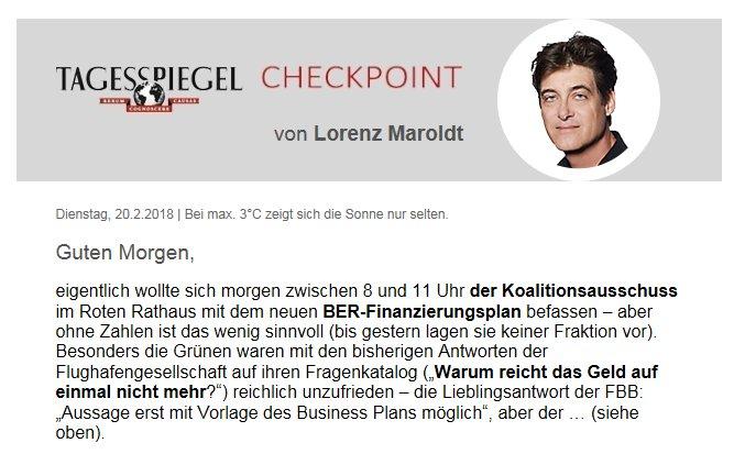 Guten Morgen! Der #Checkpoint von @LorenzMaroldt ist da! https://t.co/SO7dBFTha5