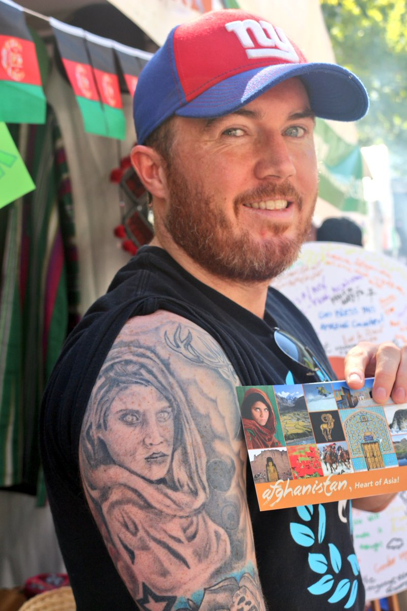 Canberra's National Multicultural Festival dragged people & cultures across the world. #SharbatGula, the @NatGeo famous portrait, is tattooed in a fan's arm @NatMultiFest @visitcanberra @ACT_Community #NMF2018