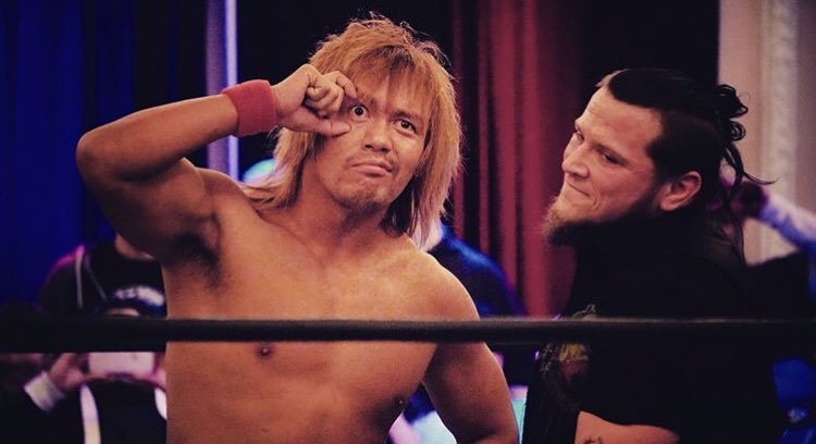 Naito with his eye on Chicago at #AAWSHOWDOWN Photo courtesy of: Dan Schram and @Highspots #AAW #AAWPRO #professionalwrestling #redefined #naito #tetsuyanaito #samicallihan #prowrestling #wrestling
