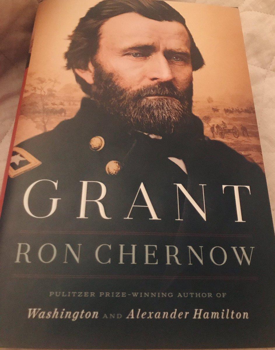 I'm excited to start reading Ron Chernow's GRANT. Rave reviews.