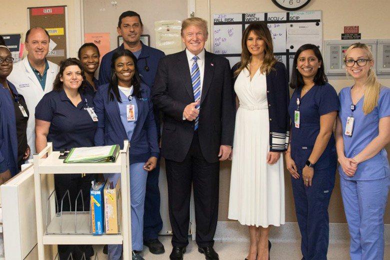 Thumbs up! Trump congratulates everyone...