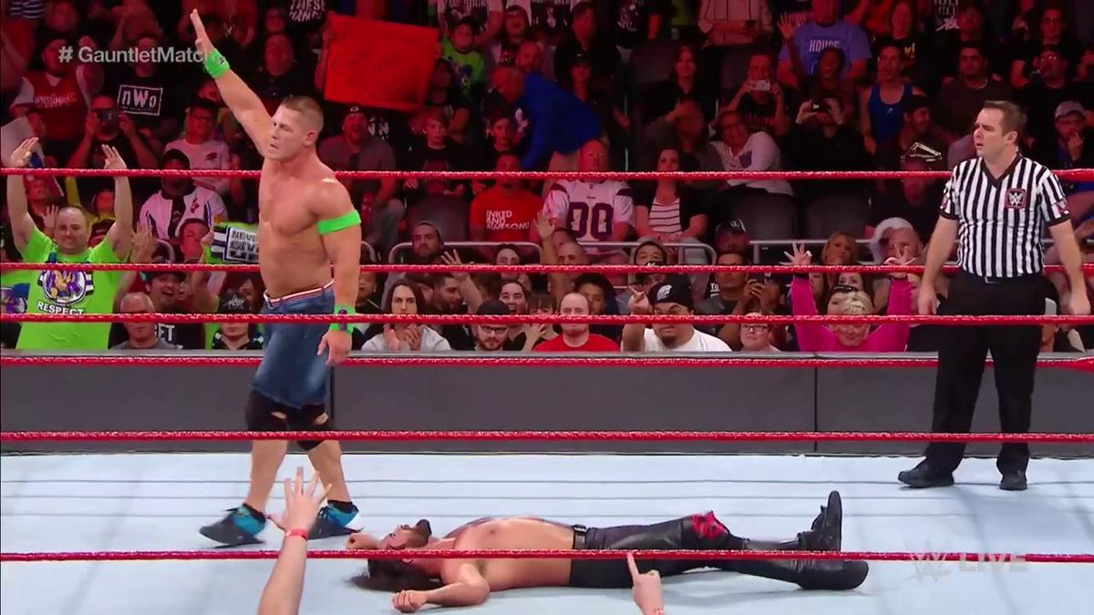 He's got @WWERollins in position...  #RA...
