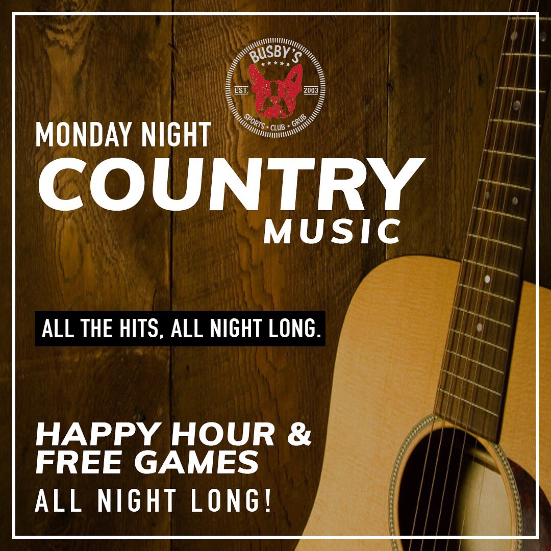 Join us tonight for our Country music! F...