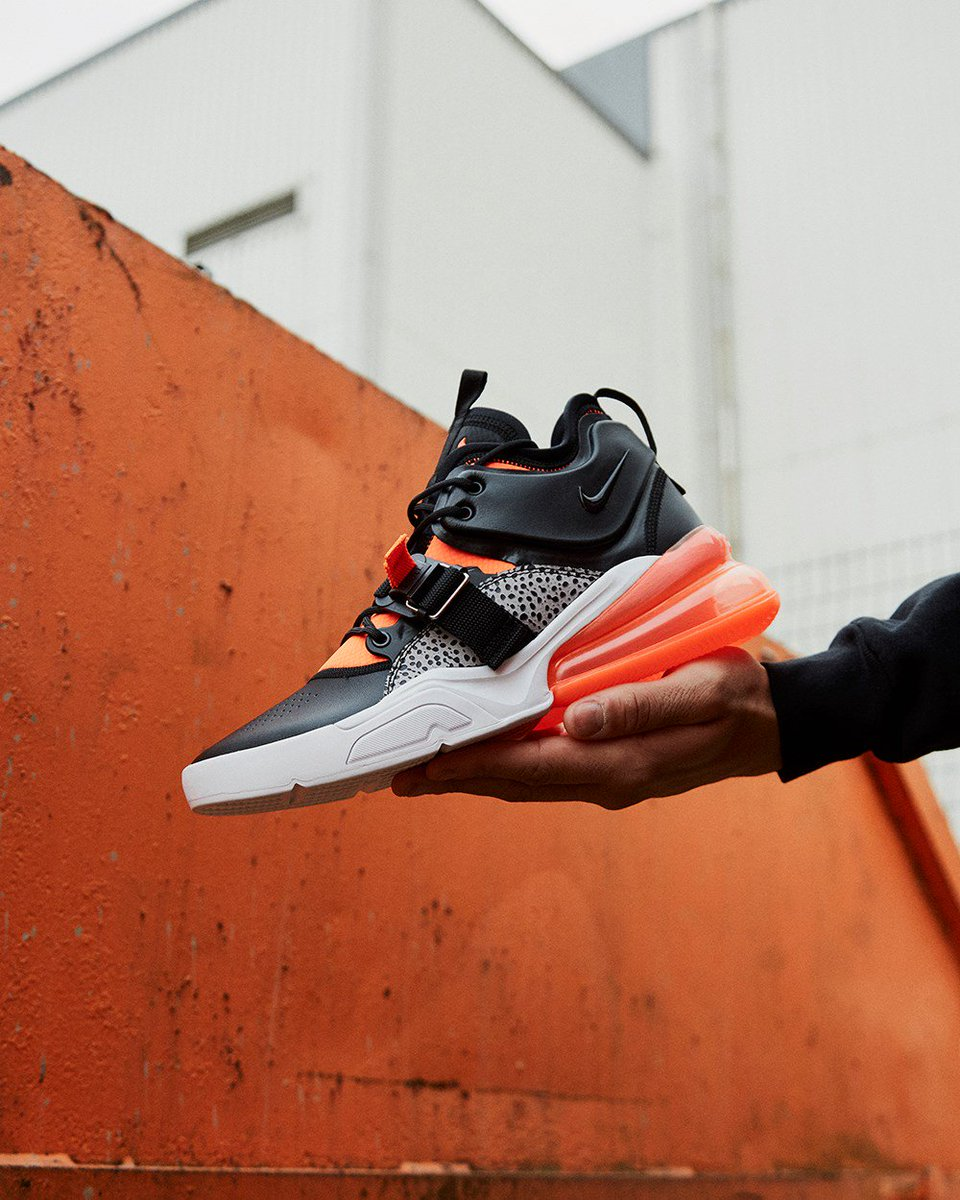 "edca13a3786b The Nike Air Force 270 ""Safari"" drops tonight at Exclucity at Midnight PST    3AM EST and then Foot Locker at 10AM EST. ..."