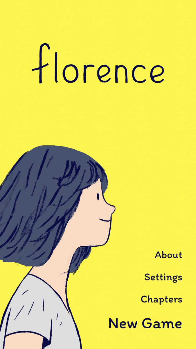 Highly recommended. A beautiful interactive narrative of love, loss and new beginnings. #florencegame @A_i