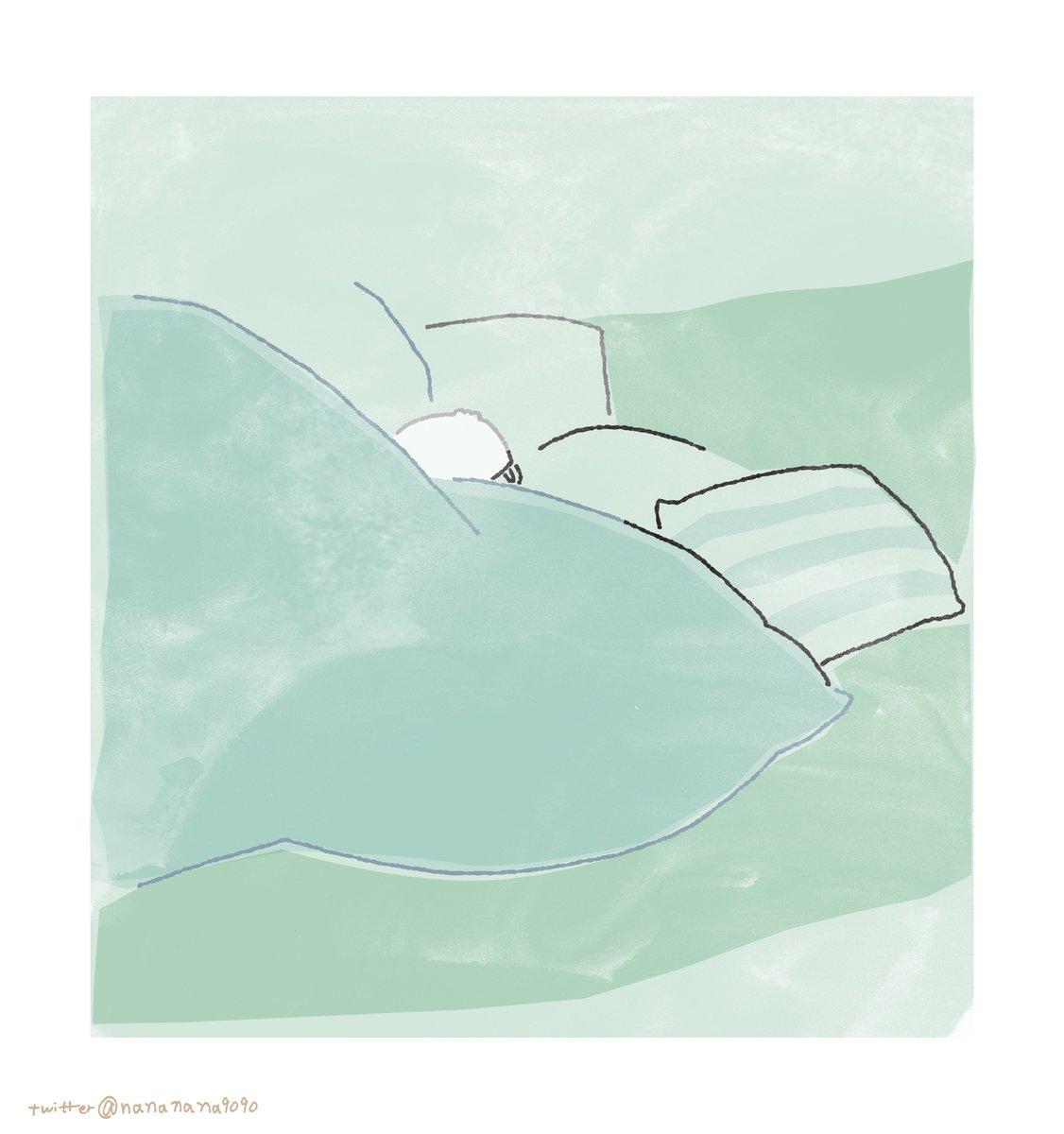 「あれ?静かだな。寝たのかな?」って寝室のぞいたらポチャがこう…こう、じってしてた。