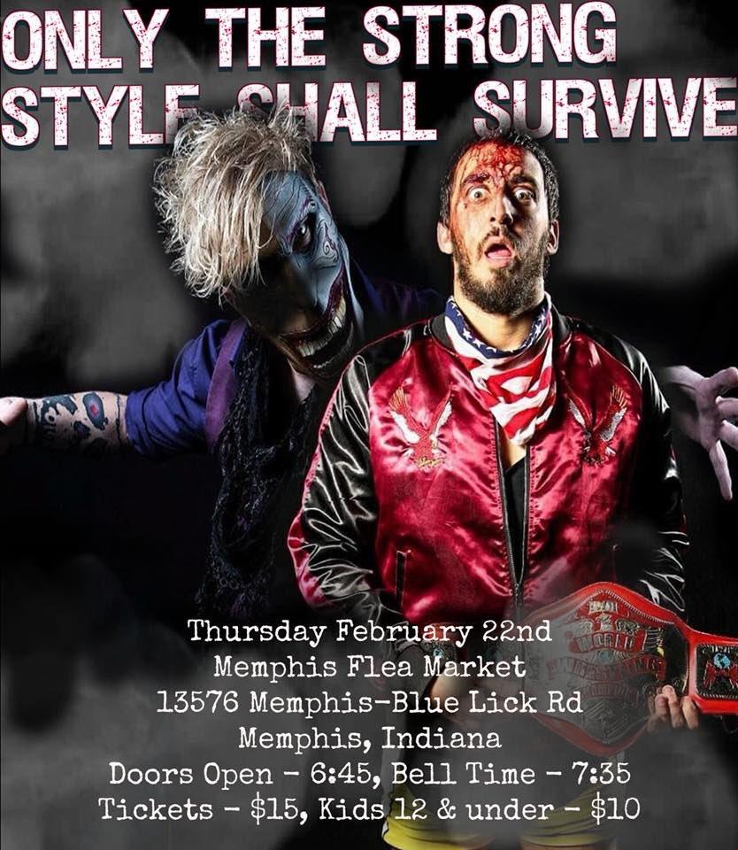 Thursday! Memphis, IN! $15 tickets, $10 for 12 & under!  RSVP - facebook.com/events/1894327…  @Amazing_Maria v @Shotziblack v @Glitterlicious   @The_MJF vs @TheBadReed   @1called_manders vs @RichHomieJuice   @CalvinTankman v @EddyOnly8   @ChaseHollidayX v @DevilSon_Rotten