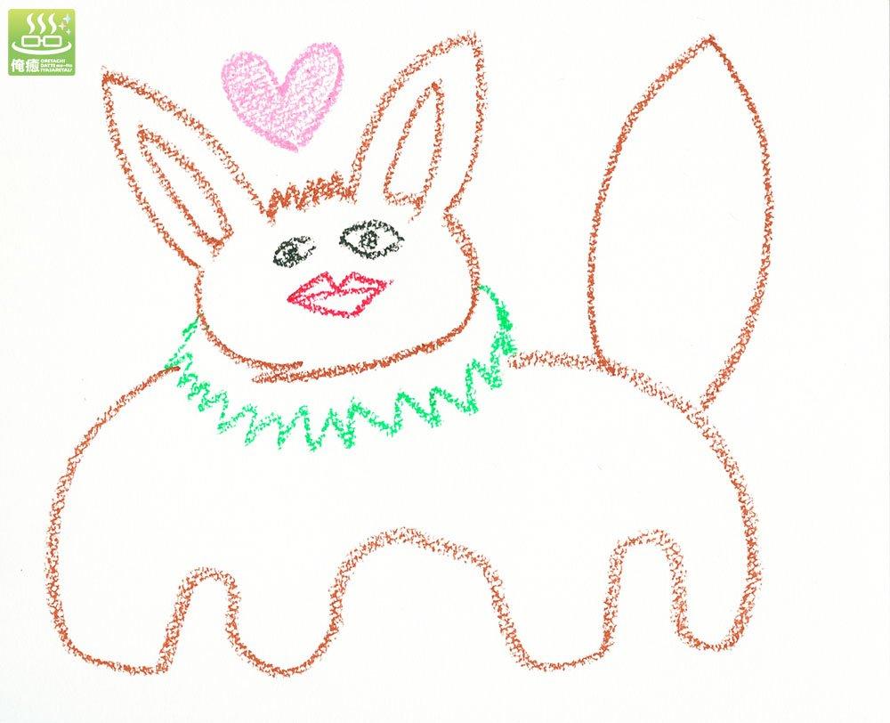イーブイに癒されたくて、撮影の合間に江口拓也画伯にイーブイを描いていただきました。癒された。 …イーブイに俺たちだって癒されたイーブイ。 #プロジェクトイーブイ #俺癒