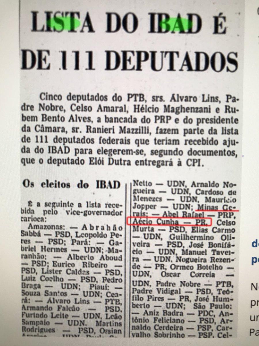 Só pra lembrar que o pai do Aécio foi eleito com dinheiro da CIA em 1962.