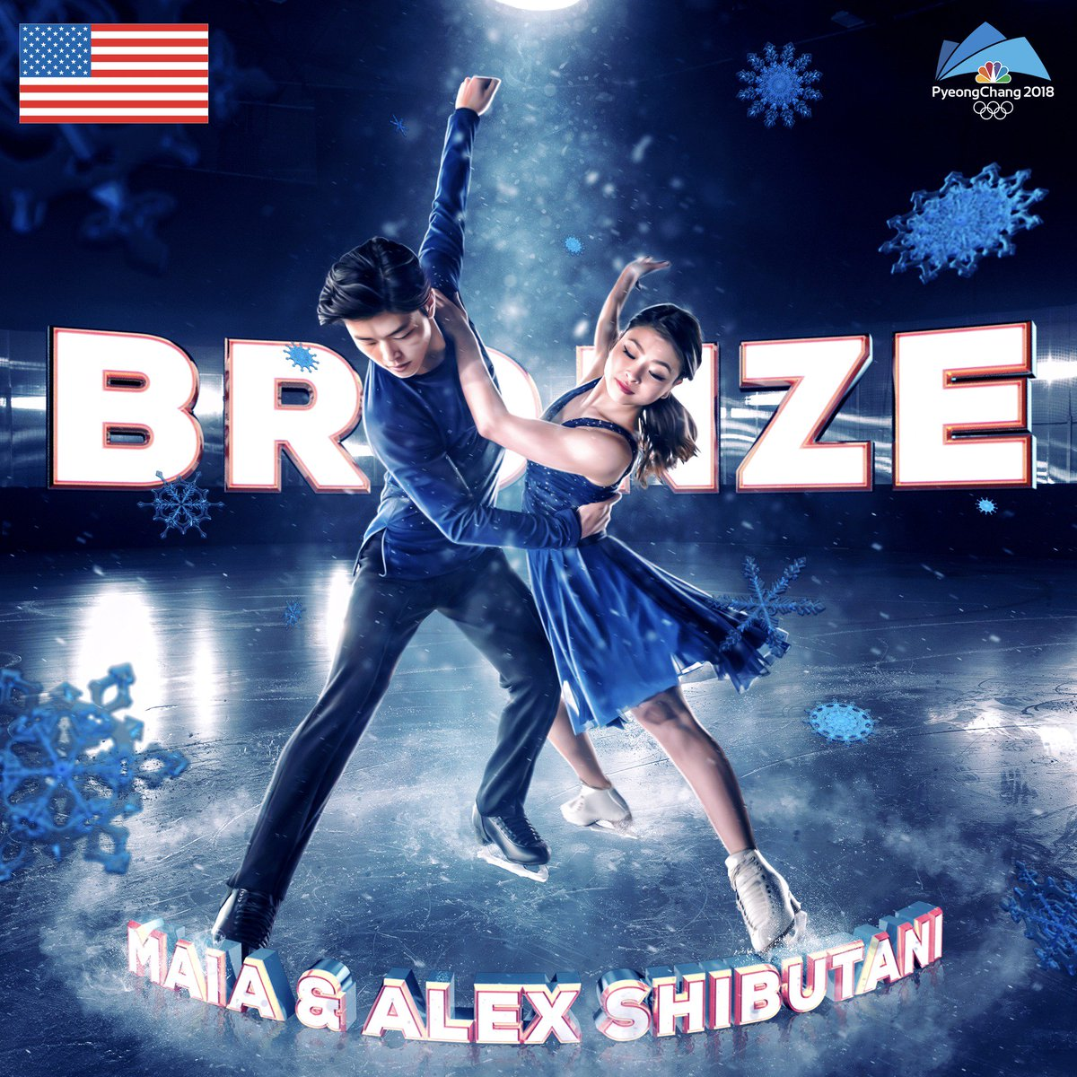 The #ShibSibs have earned #bronze in ice dance! #WinterOlympics