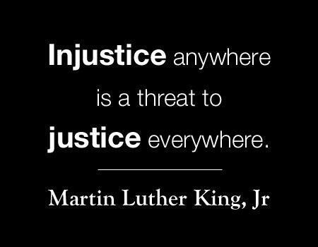 Injustice anywhere is a threat to justice everywhere ~ Dr Martin Luther King #WorldSocialJusticeDay #SocialJusticeDay