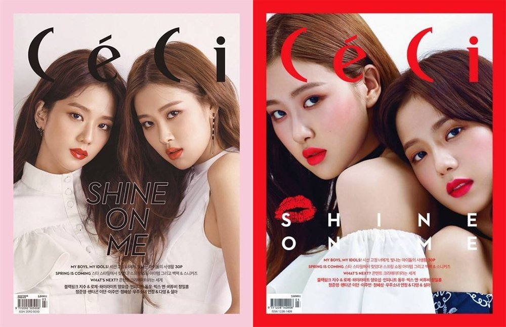 Black Pink's Jisoo and Rosé twin up for the cover of 'CeCi' https://t.co/5QS1eaT8KR