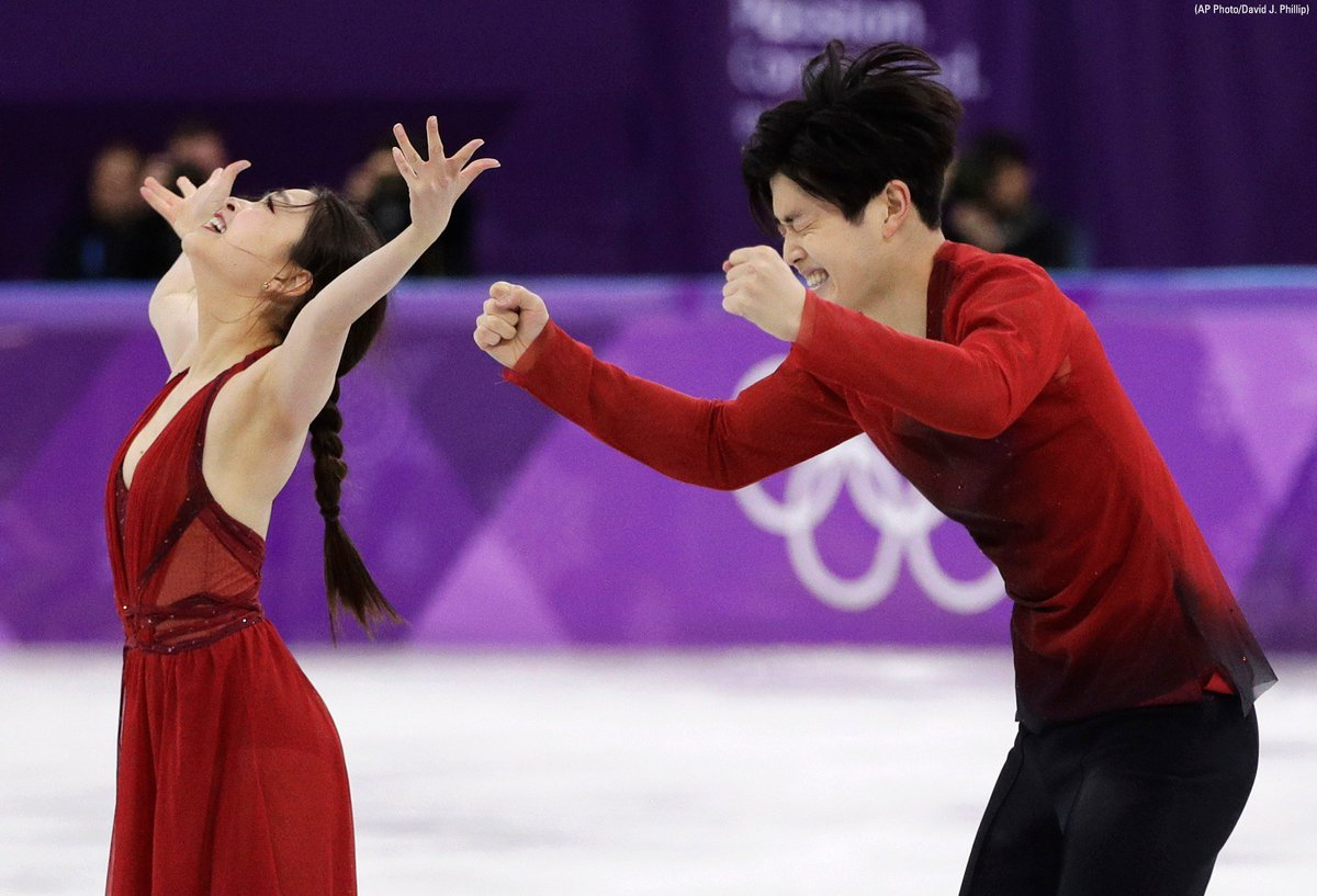 Siblings Maia Shibutani and Alex Shibutani of the United States win bronze after their performance in the ice dance, free dance figure skating final. https://t.co/707pb60QhC