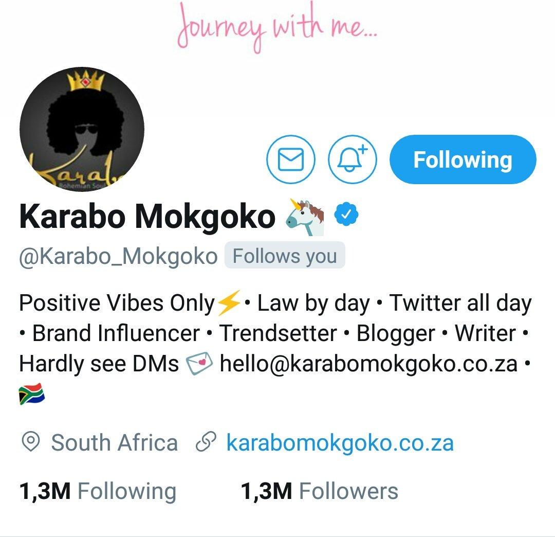 @Karabo_Mokgoko is such a sweetheart. No...