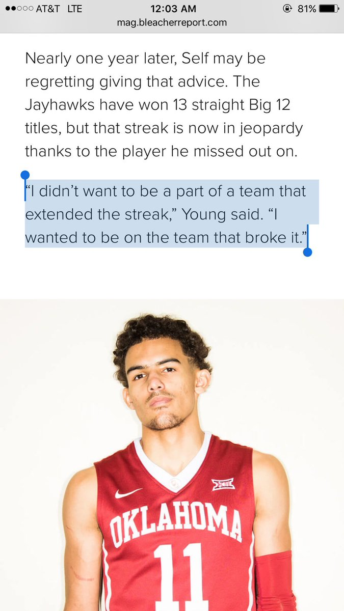 So is Trae Young coming back next year?...
