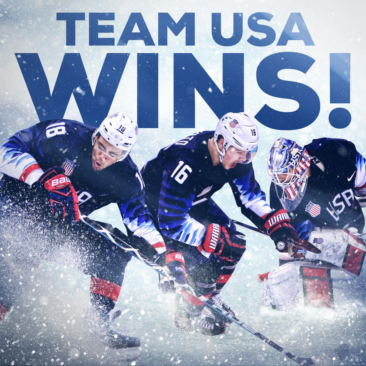 It's on to the quarterfinals! @TeamUSA @usahockey's men send Slovakia home with a 5-1 win. #WinterOlympics