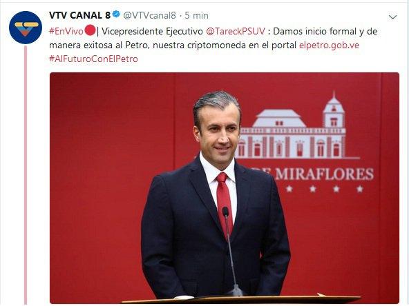 1.- TUIT DE COLECCIÓN Publicados en el instante del nacimiento histórico de #ElPetro ¡TENÍA QUE SER EN VENEZUELA! ¡TENÍA QUE SER EN REVOLUCIÓN! @NicolasMaduro lo DIJO YYYY como siempre ¡LO CUMPLIÓ!