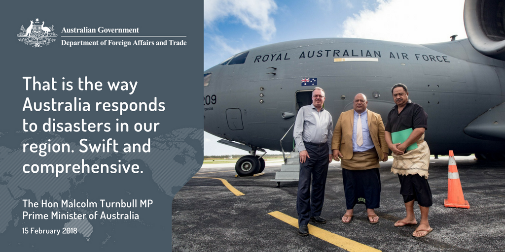 Australia works closely with our partners to ensure we provide relief where it is needed most #AustralianAid #CycloneGita dfat.gov.au/cyclonegita
