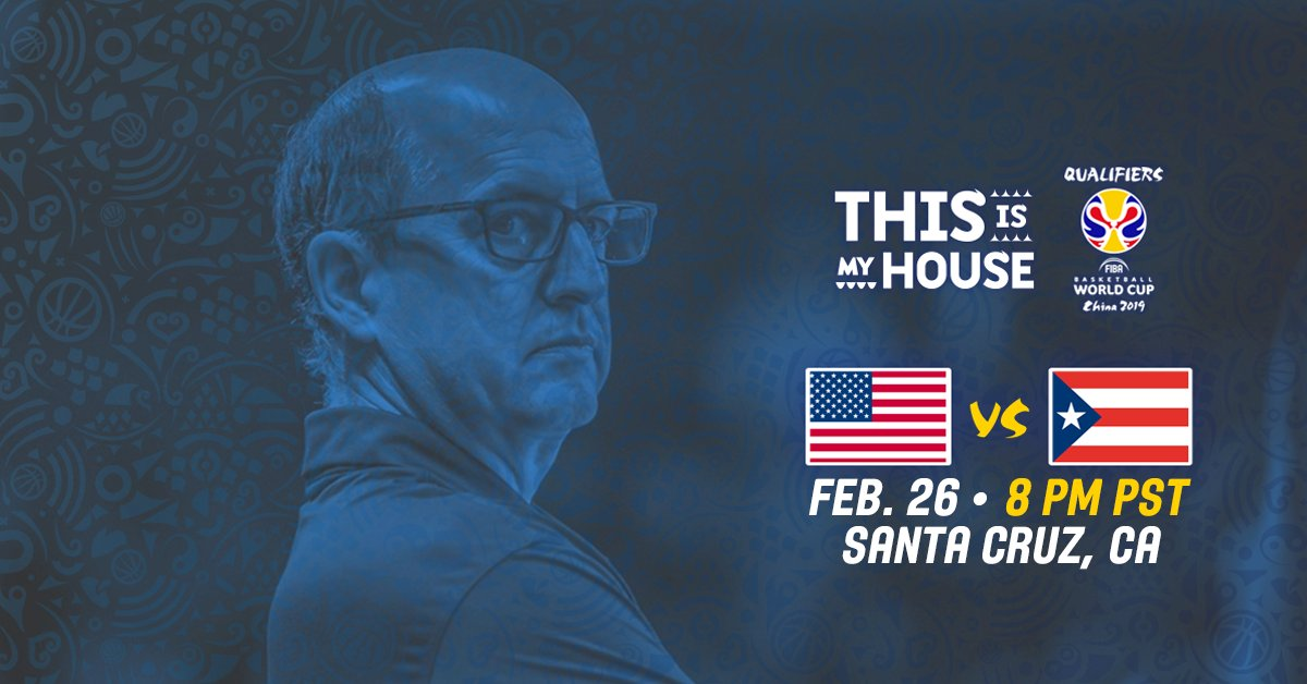 Now 1⃣ week away from our @FIBAWC Qualifier versus Puerto Rico at Kaiser Permanente Arena in Santa Cruz, CA. #ThisIsMyHouse   🇺🇸🆚🇵🇷🎟️ » https://t.co/h7CqZqnFw7