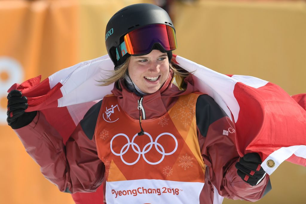 The best score in each of the first two runs 🔥🔥  🇨🇦 Cassie Sharpe was too strong for the rest as she took the win in the women's ski halfpipe final.  More: https://t.co/6hGfkNs3Ef   #pyeongchang2018 #bbcolympics