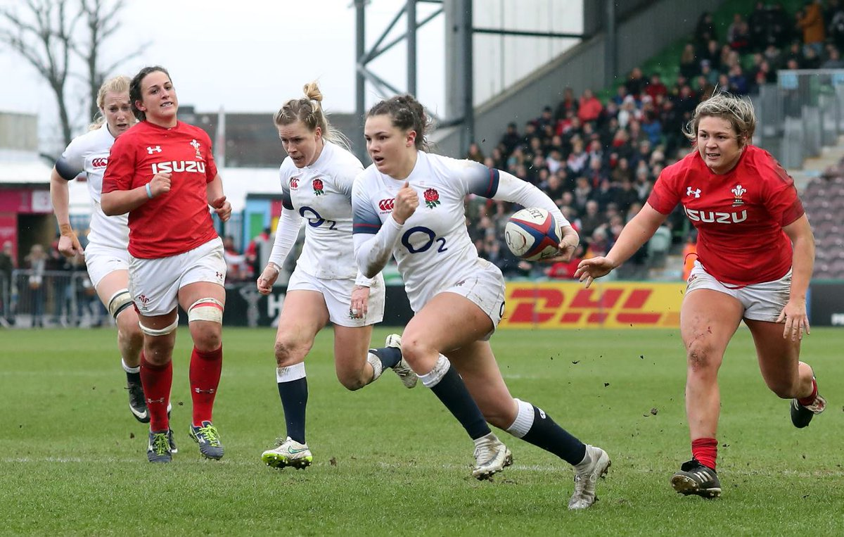 There was no stopping @EnglandRugby's @elliekildunne in R2 of the @Womens6Nations... The #RedRoses are back on Friday, and heading to Scotstoun to face @Scotlandteam. Catch it on Sky Sports Mix at 7pm. #BelieveTheHype #AsOne #WearTheRose #SendHerVictorious @SportswomenSky