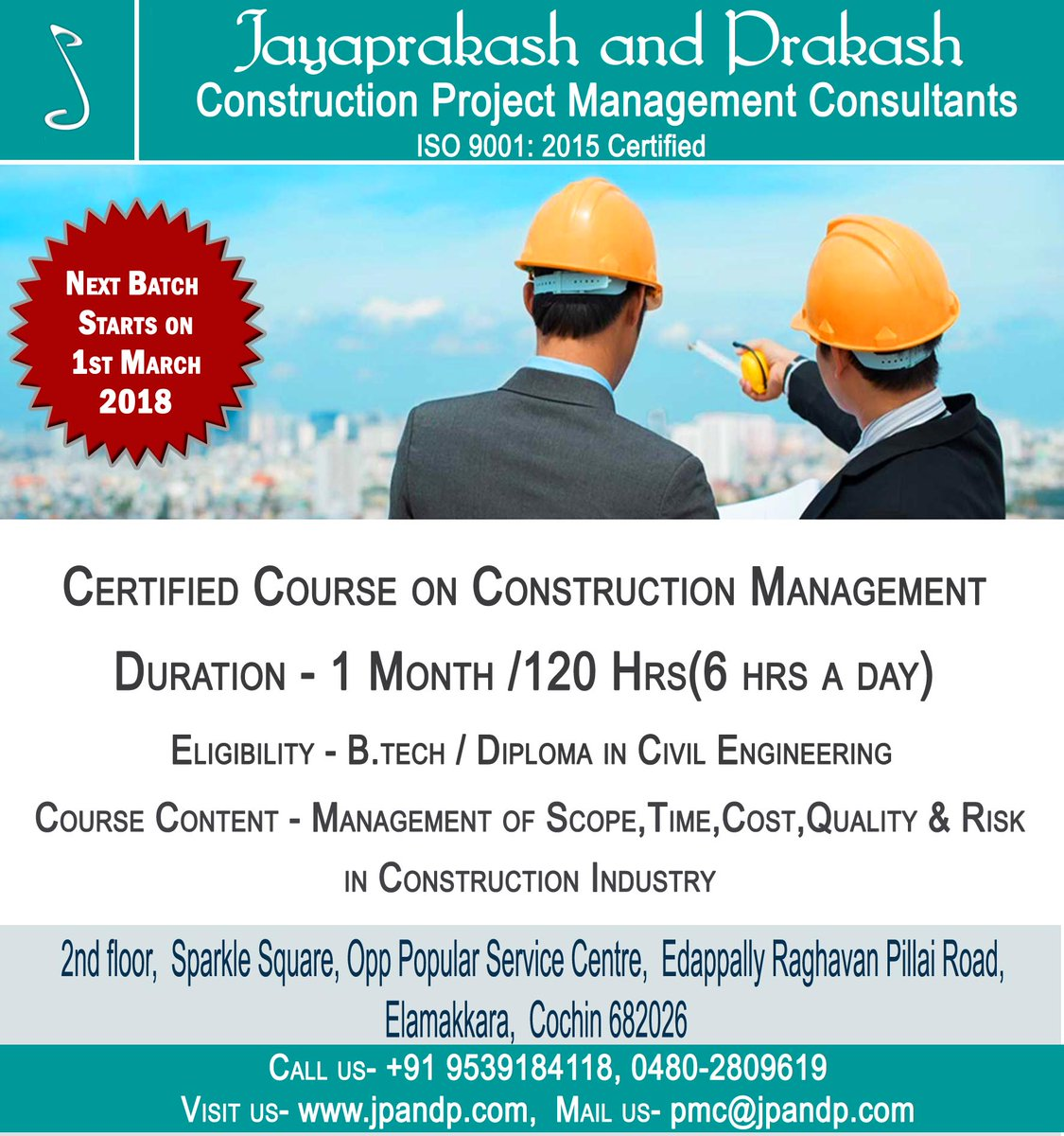 Certified Course On Construction Management