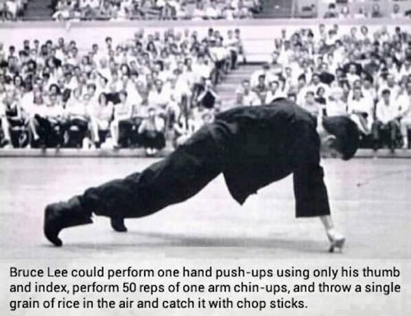 He was able to do that through hard work. And you can do it, too. 🏆 #brucelee #strength #hardwork https://t.co/DExQkJbLLT