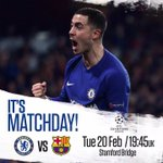 Chelsea v Barcelona under the lights!   Come on yo...