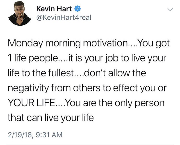 Great words from @KevinHart4real https:/...