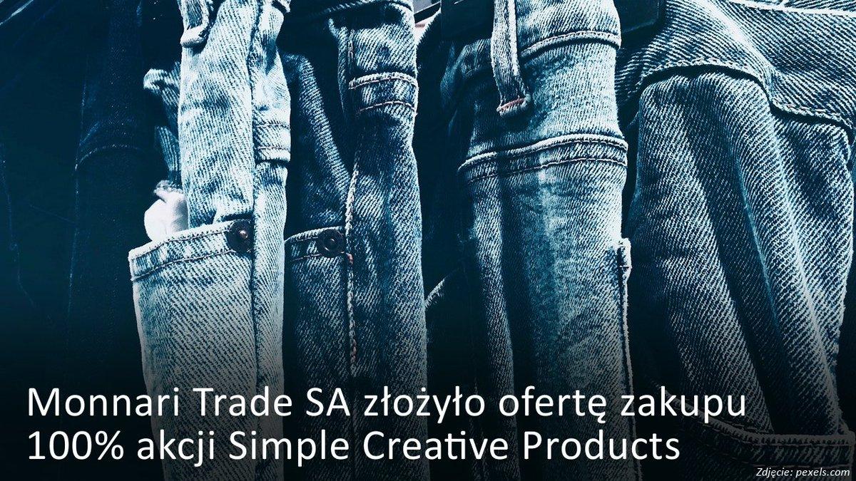 7a22c01ca6d3e #MonnariTrade złożył #GinoRossi wstępną ofertę zakupu 100% akcji Simple  Creative Products http://bit.ly/2ojmKNN #inwestorzytv @Monnariofficial ...