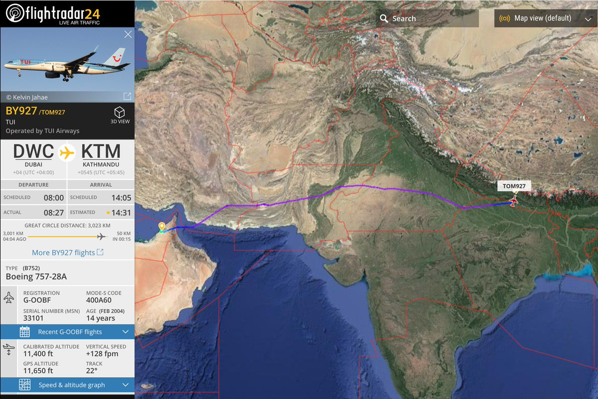 Nepal a380 on twitter alert tui airways boeing 757 is about to flight departed as tom927 from dubai world central international airport reg g oobf vnkt tui aviationnepal avgeek flightradar24 planespotting gumiabroncs Image collections