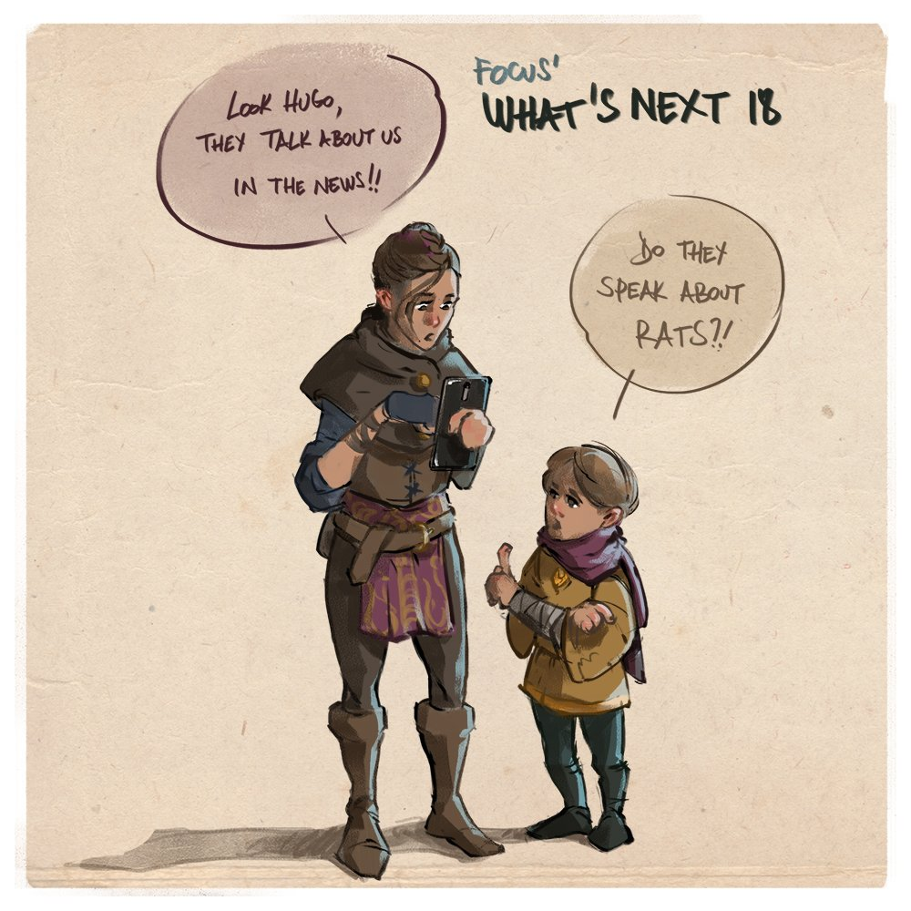 We're happy to see so many great previews of A Plague Tale - Innocence, and  so are Amicia and Hugo! We're looking forwards to sharing more with you ...