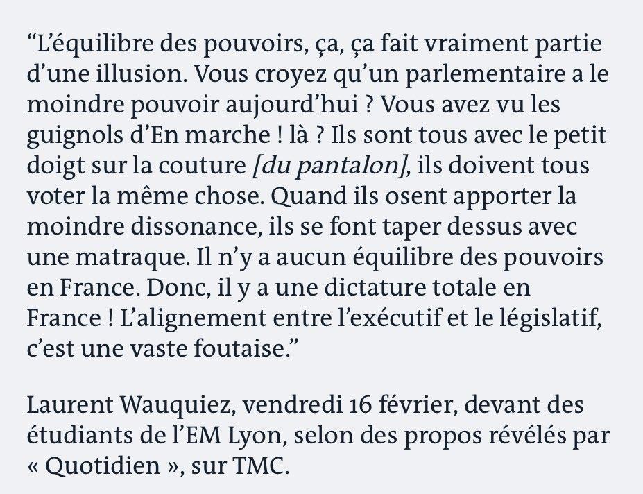 «Il y a une dictature totale en France», selon @laurentwauquiez. Cette outrance (parmi tant d'autres) est une injure à toutes celles et tous ceux qui ont vécu ou vivent encore sous une vraie dictature.