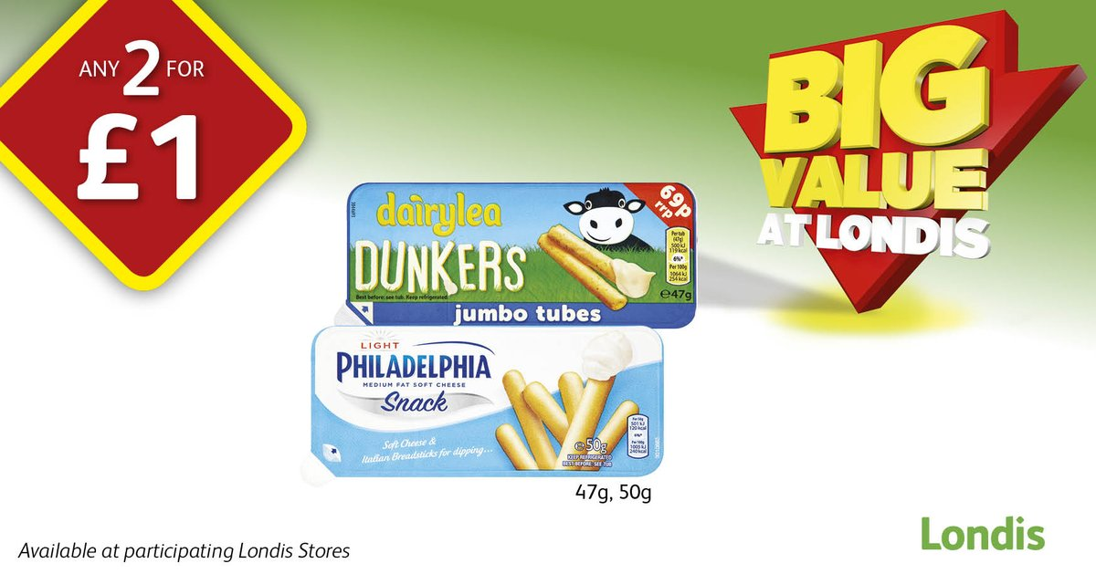 #BackToSchool this week? @Dairylea Dunkers & @LoveMyPhilly Snack Pots are now 2 for £1 in @myLondis