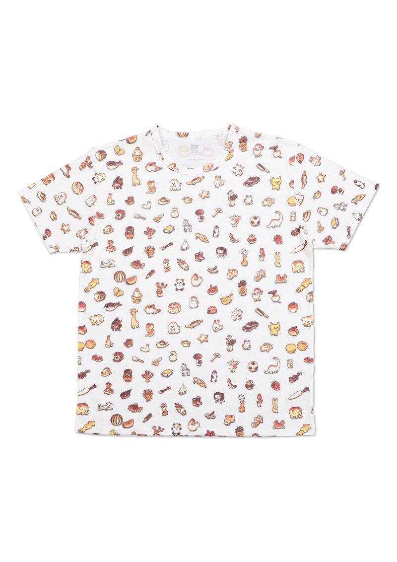 【パン祭り】かこさとしコラボ、ご覧いただけましたでしょうか。担当者イチオシはこちらのTシャツです。犬パンにほっこり。よく見るとだるまちゃん、てんぐちゃん、かみなりちゃんが? #グラニフ