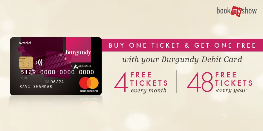 Bookmyshow On Twitter Axis Bank Users We Have A Special Treat For