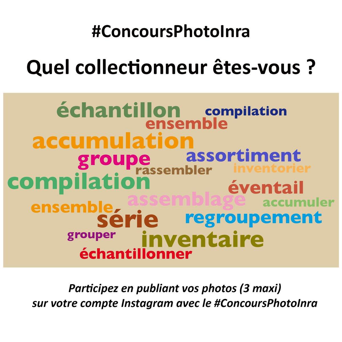Les #RessourcesGénétiques, l'#Inra les collectionne ! Et vous quel collectionneur êtes-vous ? Participez à notre #ConcoursPhotoInra. Exprimez la notion de #collection à travers votre #photographie, postée sur Instagram & suivez-nous sur Instagram Règlement https://t.co/ZsnUga61Km