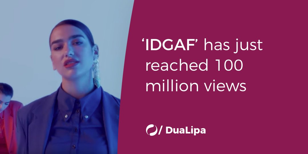 .@DUALIPA's 'IDGAF' has just reached 100...
