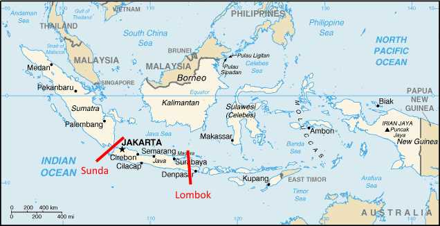 Image result for sunda and lombok straits