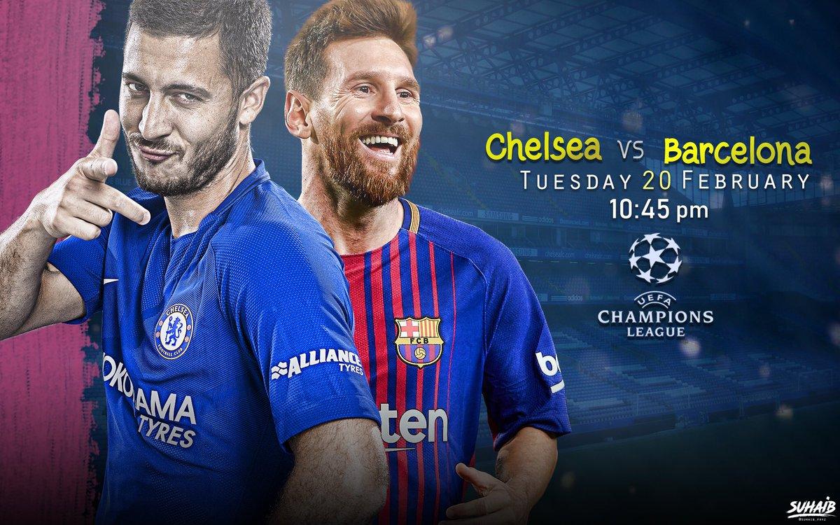 #Matchday  #Chelsea vs #Barcelona   #تشي...