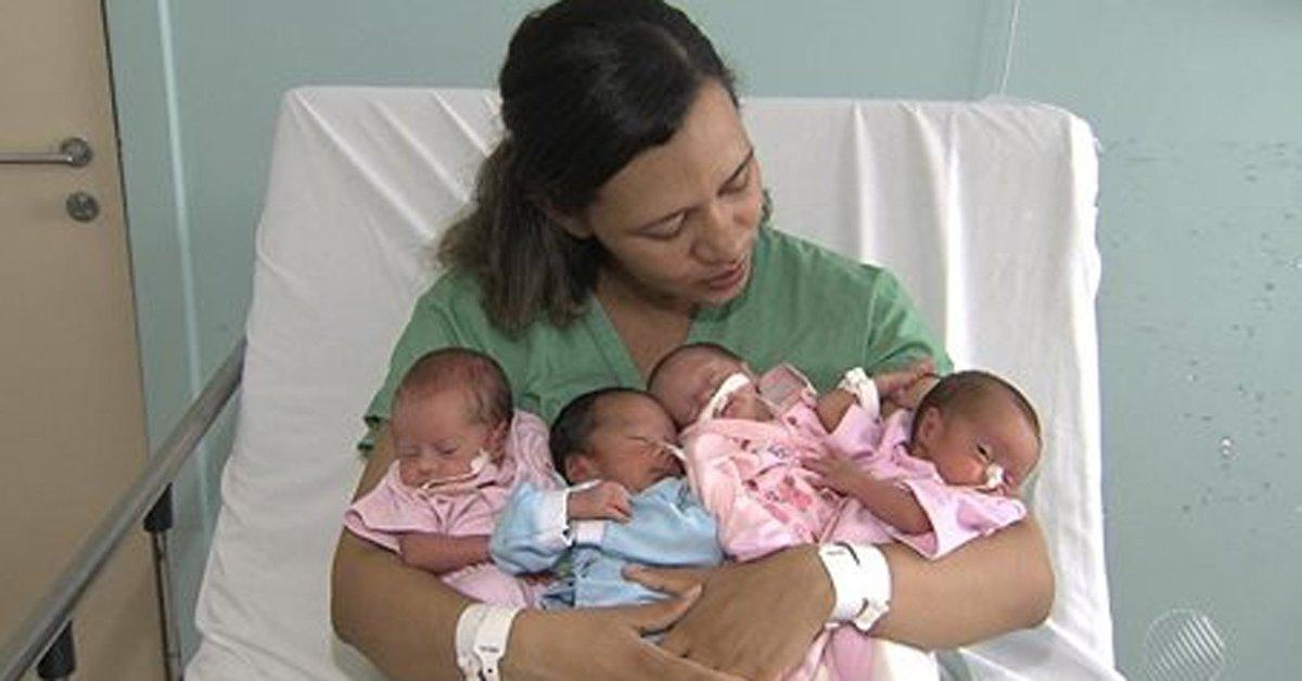 Jovem dá à luz quadrigêmeos em gestação natural na Bahia https://t.co/vIEem5DdlP #G1