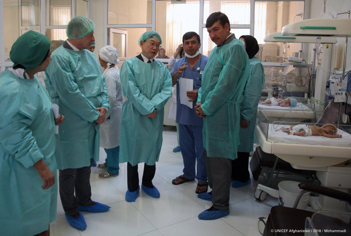 Today we met some children and women who have benefitted from these health services #EveryChildALIVE With us were His Excellency Matsuji Suzuka, Ambassador of the Embassy of Japan in #Afghanistan and His Excellency, Deputy Minister of Health Services, Dr. Feda Mohamad Paikan.