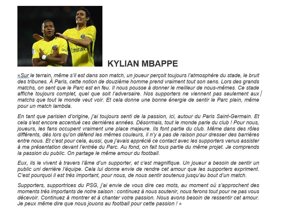 Un joueur du PSG qui tient ce discours à seulement 19 ans, respect @KMbappe !!Tout est résumé en quelques phrases..Ne t\