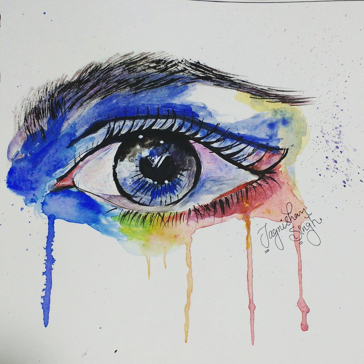 Jagnishan Singh On Twitter Eye Sad Love Share Drawings Art