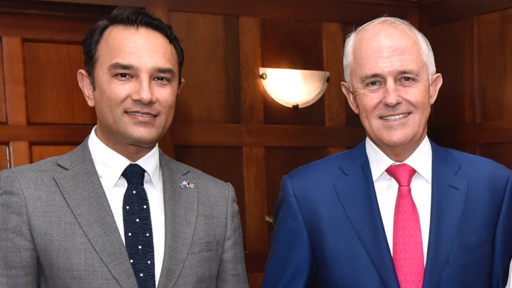 Guest of Prime Minister @TurnbullMalcolm at his residence in #Canberra                🇦🇫�🇦🇺