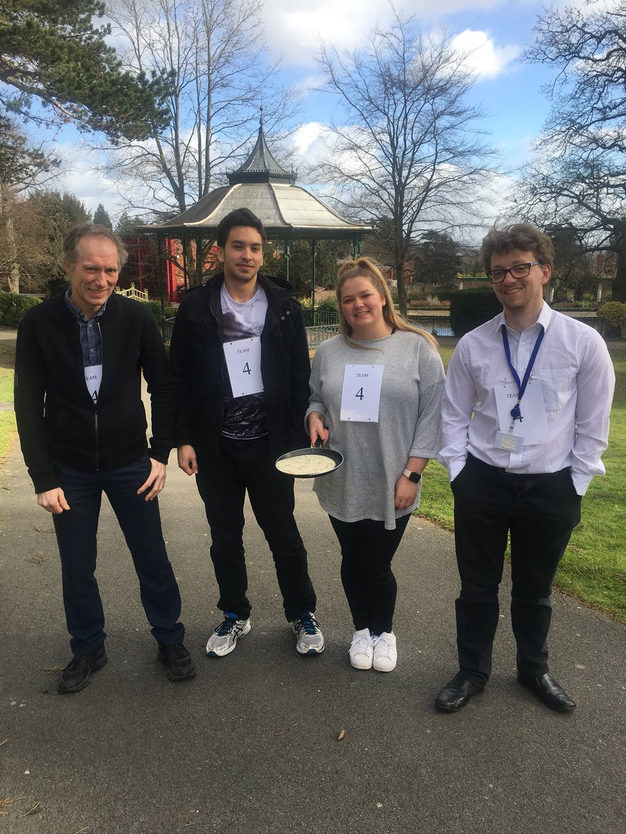 The MHDC team are flippin' excited for the pancake race! #MalvernHills #PancakeRace