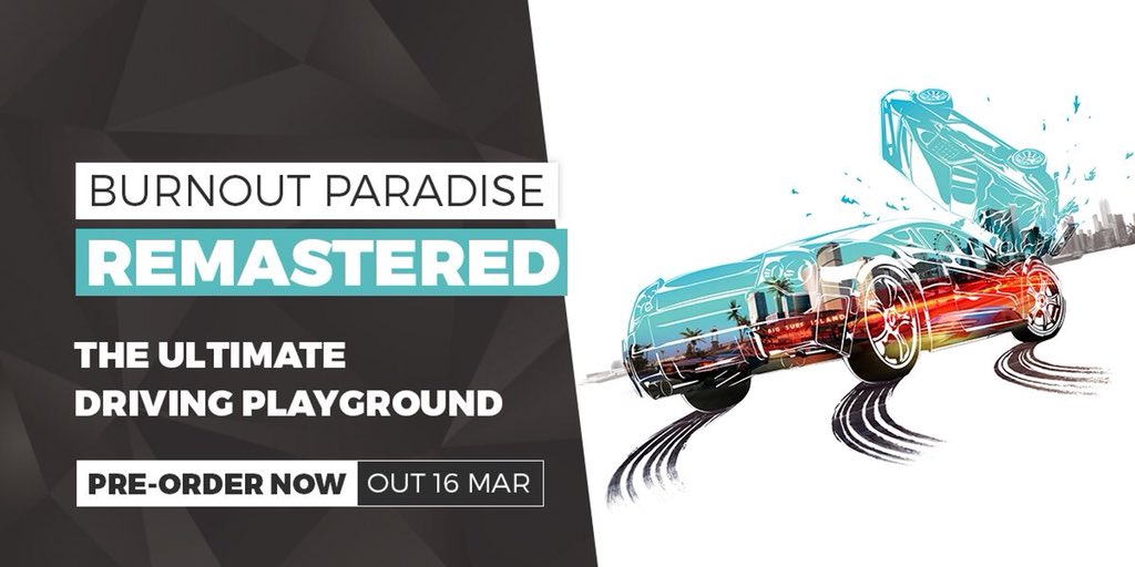 🎶Take us down to the Paradise City..🎶  #BurnoutParadiseRemastered arrives on March 16 if like me you spent way to many hours in paradise city then race down and pre order now!! https://t.co/DvvFRG7Mnx