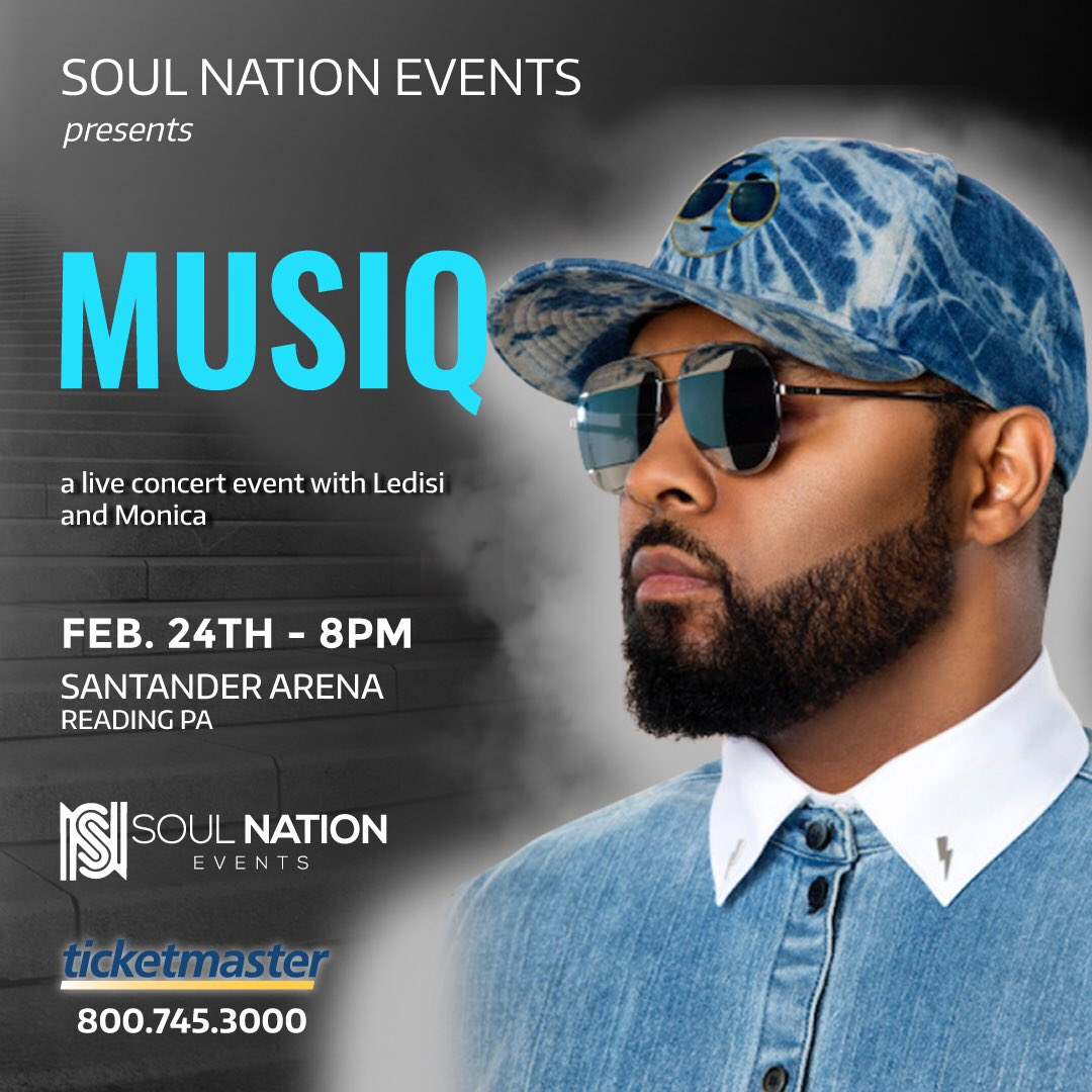 Reading, PA, I'll be performing at The Santander Arena this Saturday. See you there... #hiphopsoul #feelthereal